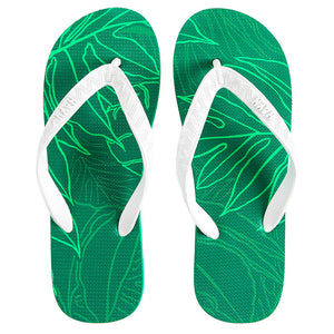 Men's Sig Zane Slippers (Ulumaka) Green