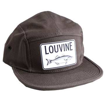 Louvine Bass logo 5 Panel Cap Grey