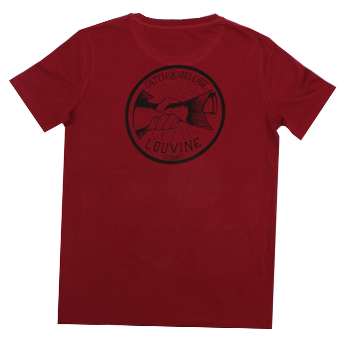 CATCH AND RELEASE Burgundy T-SHIRT