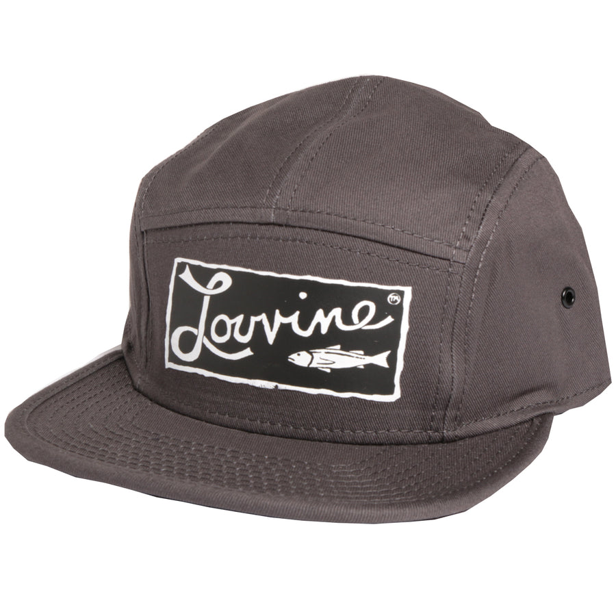 Louvine 'OG' logo 5 Panel Cap Grey