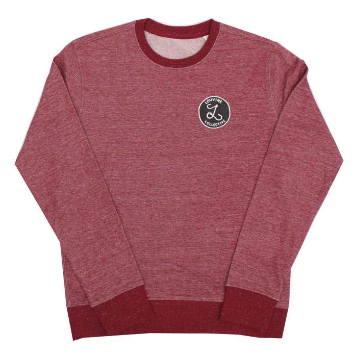 HOOKS LOGO CREW SWEAT DARK HEATHER BURGUNDY