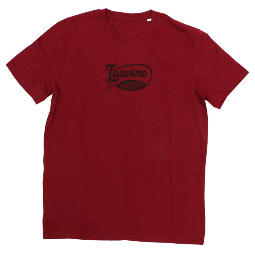 LOUVINE COLLECTIVE T SHIRT BURGUNDY