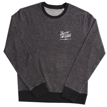 LOUVINE SUD OUEST DARK HEATHER GREY CREW SWEAT