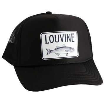 Louvine Bass logo trucker BLACK Mesh back