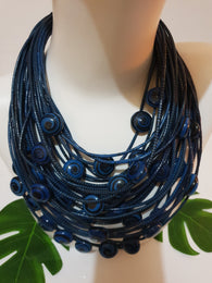 Recycled rubber and eco-friendly sustainable necklaces