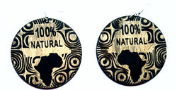 100% Natural - wooden earrings