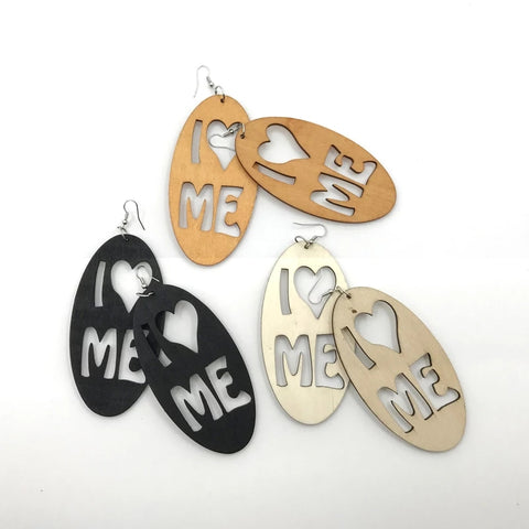 I Love Me Earrings - various colours