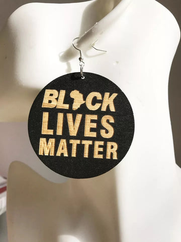 Black lives matter - wooden earrings