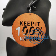 Keep it 100% Natural - wooden earrings