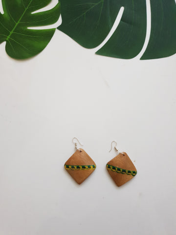 Bamboo statement arrings