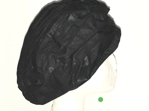 Black - African print head turban