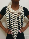 Cowrie shell necklace - large