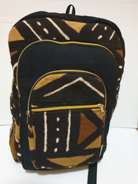Mud cloth african print backpack