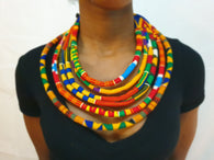 Kente Layered African necklace