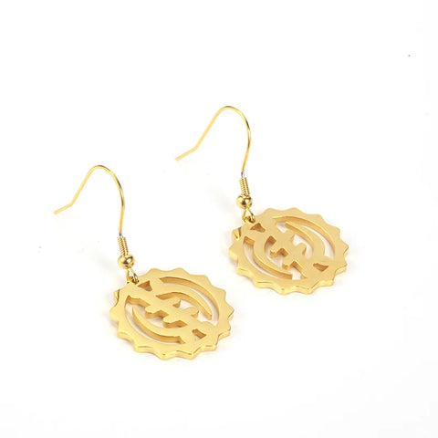 Adinkra Gye Nyame Symbol African Earrings
