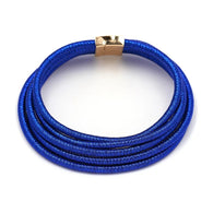 Blue rope choker statement necklace