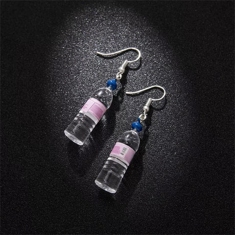 Spring Water Bottle Pendant Dangle Earrings