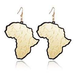 African gold shaped earrings