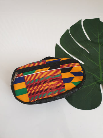 Kente African fabric Waist bag