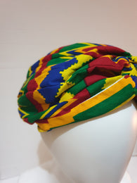 African print head turban - kente print - Medium - large