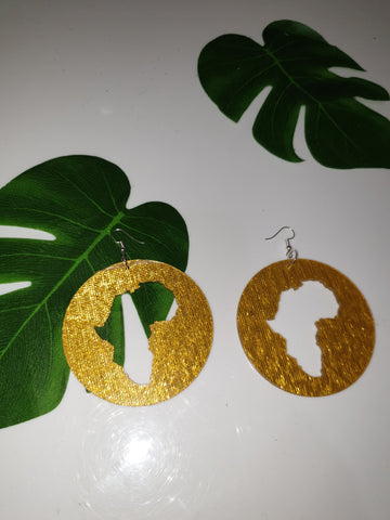 Circle Africa Golden Earrings