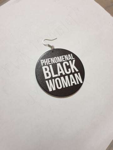 Phenomenal Black Women - Wooden Earrings