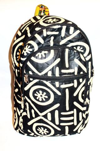 Adinkra african print backpack