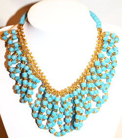 Light green handmade bead necklace