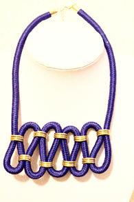 Twisted statement rope necklace