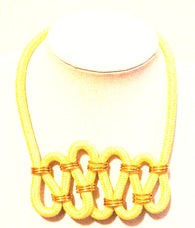 Yellow twisted rope necklace