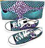 Custom made african print converse bag and low top trainers