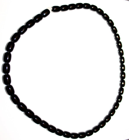 Black handmade bead male necklace
