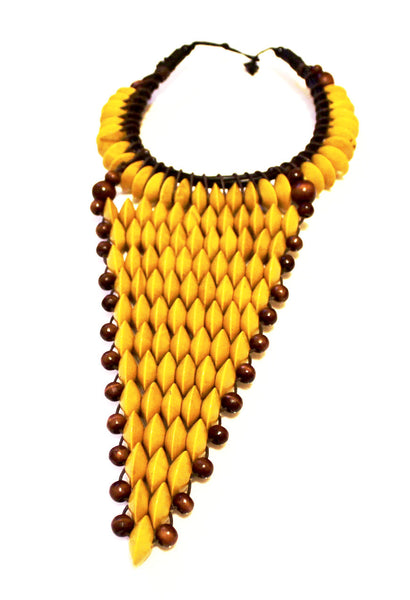 Yellow large statement necklace