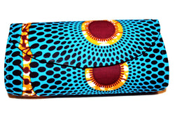 Blue small Nsubra print clutch bag