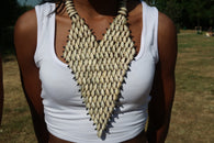 Cowrie elegant statement necklace
