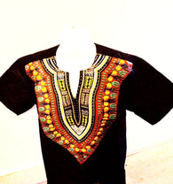 Black dashiki shirt - Medium