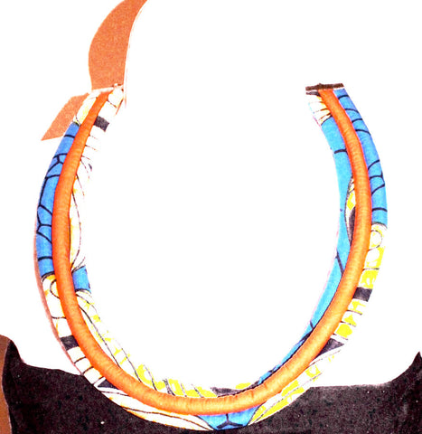 African print ankara necklace
