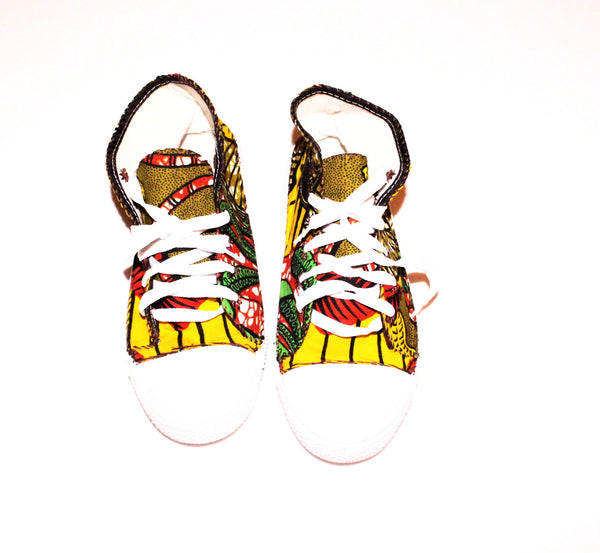African print sneakers / trainers - Size 37 (4)