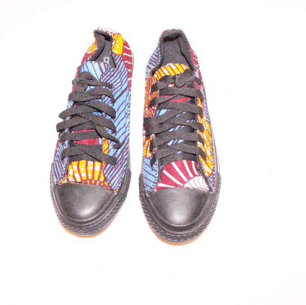 Low top african print trainers sneakers - Size 7 (40)