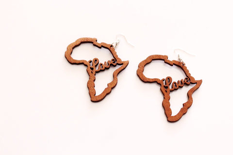Love Africa earrings - Brown