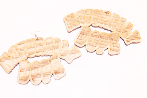 Naturally dope earrings - Wooden