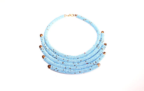 kenya statement necklace - Blue