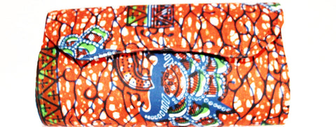 African print clutch bag - small