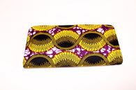 zipped african print purse