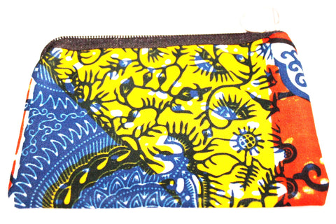 Small african print purse