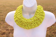 Yellow chunky twisted rope statement choker necklace