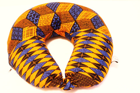 African print neck cushion