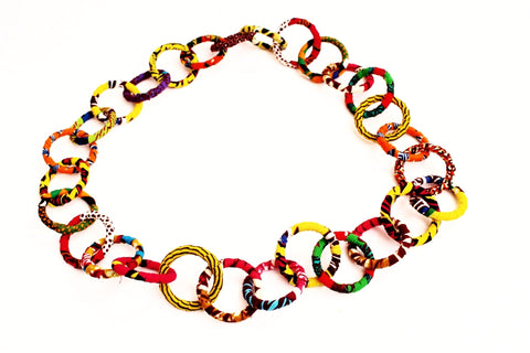 Circular african statement necklace