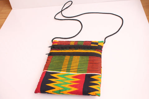 African fabric passport bag