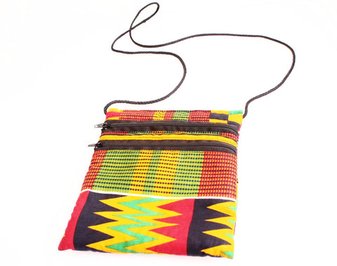 Small travel bag - kente fabric